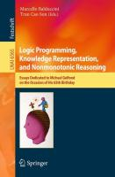 Logic Programming, Knowledge Representation, and Nonmonotonic Reasoning