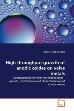 High throughput growth of anodic oxides on valve metals - Mardare, Andrei Ionut